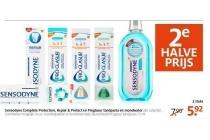 sensodyne complete protection repair en protect en proglasur tandpasta en mondwater
