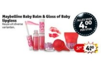 maybelline baby balm en gloss of baby lipgloss