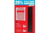 25 korting op alle design radiatoren