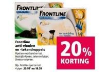 frontline anti vlooien en tekendruppels