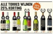 alle torres wijnen 25 korting