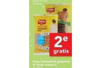 wasa knaeckebroed glutenvrij of schaer crackers