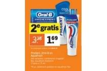 prodent oral b en aquafresh