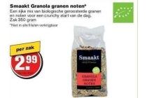 smaakt granola granen noten