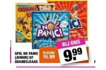 spel no panic junior of grabbelkaas