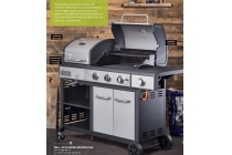 gas en houtskoolbarbecue