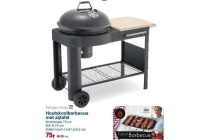 houtskoolbarbecue met zijtafel