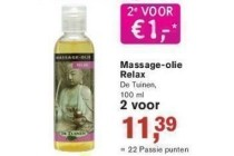 massage olie relaz
