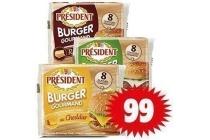 president burger plakjes
