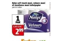nalys soft touch maxi velours maxi of excellence maxi toiletpapier