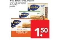 wasa delicate crisp crackers of crunch sensation