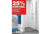 25 korting op alle get wet by sealskin douchecabines