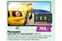 panasonic ultra hd tv tx40 exf687 a klasse
