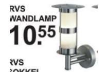 diamant rvs wandlamp
