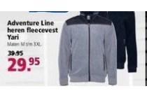 adventure line heren fleecevest yari