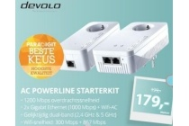 devolo dlan 1200 plus wifi ac powerline starterkit