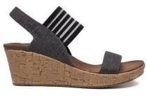 skechers sandaal zwart