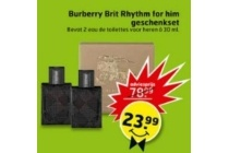 burberry brit rhythm for him geschenkset