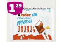 kinder chocolate maxi of cereals