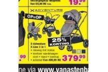 kinderwagen x adventure x line chardonnay autostoel verzorgingstas