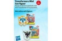 transformers mini con figuur