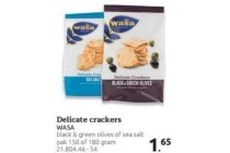 delicate crackers wasa