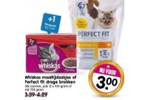whiskas maaltijdzakjes of perfect fit droge brokken