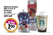 melkunie breaker milk en fruit of starbucks ice coffee