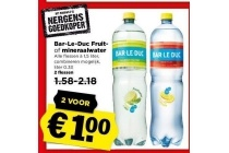 bar le duc fruit of mineraalwater