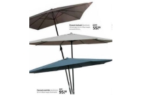parasol vierkant en rond