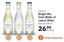 ginger ale tonic water of lemon bitter