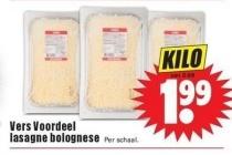 vers voordeel lasagne bolognese