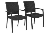 wicker stapelbare stoel