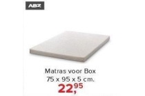 abz matras voor box