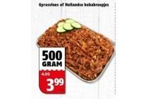gyrosvlees of hollandse kebabreepjes