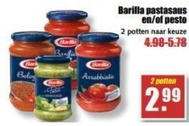 barilla pastasaus en of pesto
