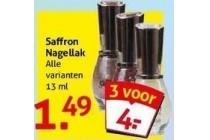 saffron nagellak