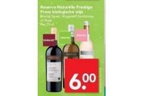 reserve naturelle prestige frans biologische wijn