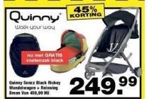 quinny senzz black rickeyy reiswieg voetenzak