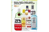 harpoon gordon s bombay sapphire tanqueray gibson s of boomsma dry gin