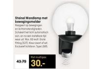 steinel wandlamp met bewegingsmelder