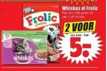 whiskas of frolic