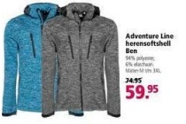 adventure line herensoftshell ben