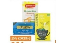 clippers zonnatura of twinings thee