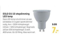 eglo gu 10 stepdimming led lamp