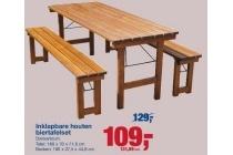 inklapbare houten biertafel