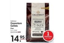 callebaut couverture callets