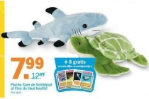 pluche sam de schildpad of finn de haai knuffel