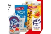 melkunie breaker vla milk en fruit of houdbare melk