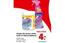 vanish oxi action white multi of vlekverwijderaar